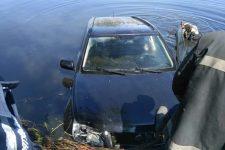 В річці Стугна виявлений затонулий автомобіль